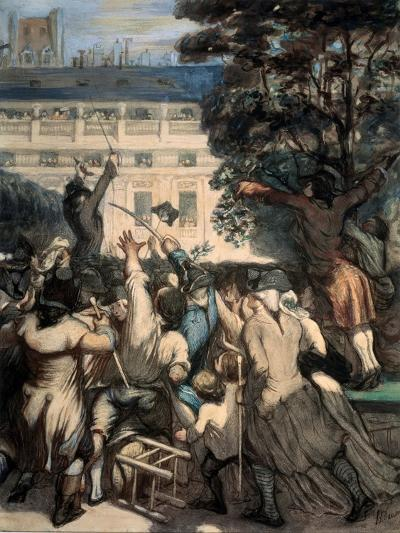 Camille Desmoulins in the Palais Royal Gardens, 1848-1849-Honor? Daumier-Giclee Print