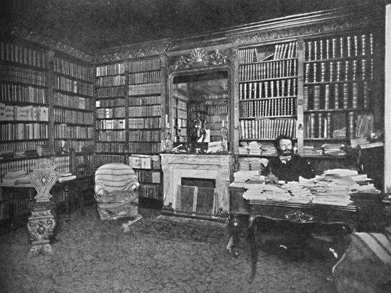 'Camille Flammarion - The Distinguished Astronomer Among His Books', c1925-Unknown-Photographic Print