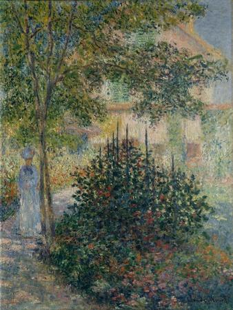 """LANDSCAPE PICTURE 24/"""" PRINT Montgeron Pond,1877 by C.Monet ANTIQUE MUSEUM ART"""