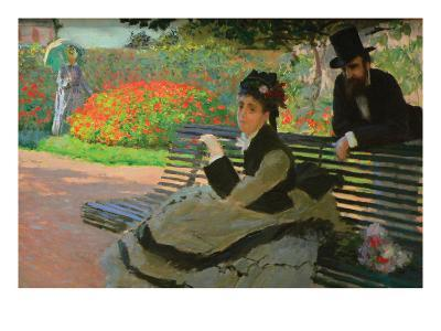 Camille Monet on a Garden Bench-Claude Monet-Art Print
