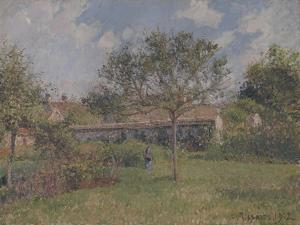 A Corner of the Meadow at Eragny by Camille Pissarro