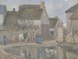 A Pond in Ennery, 1874 by Camille Pissarro