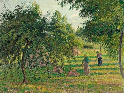 Apple Trees and Hay Makers at Eragny (Pommiers et Faneuses, Eragny). 1895 by Camille Pissarro