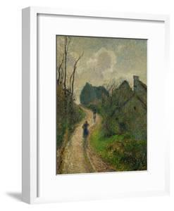 Ascending Path in Osny, 1883 by Camille Pissarro