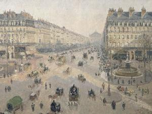 Avenue de l'Opéra, soleil, matinée d'hiver by Camille Pissarro