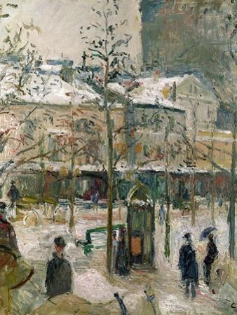 Boulevard De Rocheouart in Snow, 1878 by Camille Pissarro