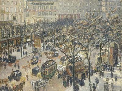 Boulevard Des Italiens, Morning, Sunlight, 1897 by Camille Pissarro
