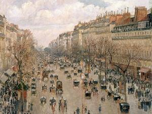 Boulevard Montmartre, Afternoon Sun, 1897 by Camille Pissarro