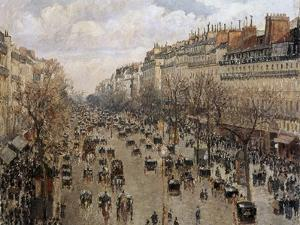 Boulevard Montmartre in Paris, 1897 by Camille Pissarro