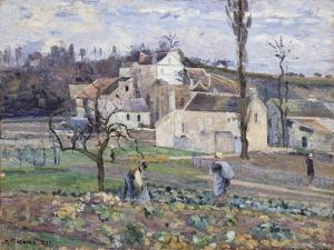 Cabbage Patch Near the Village, 1875 by Camille Pissarro