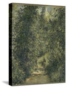 Chemin sous bois en été by Camille Pissarro