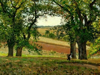 Chestnut Trees at Osny, C.1873 by Camille Pissarro