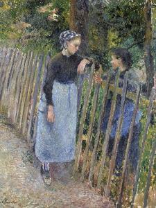 Conversation, Ca 1881 by Camille Pissarro