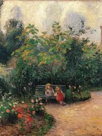 Corner of the Garden at the Hermitage by Camille Pissarro