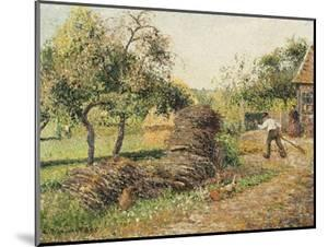Court of the Mother Lucien, Eragny by Camille Pissarro