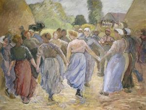 Dancing Countrywomen by Camille Pissarro