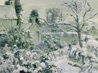 Effect of Snow with Cows at Montfoucault, 1874