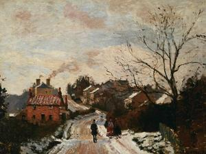 Fox Hill, Upper Norwoor, London by Camille Pissarro