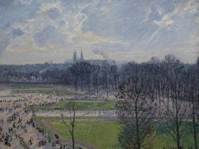 Garden of the Tuileries in a Winter Morning by Camille Pissarro
