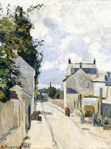 Hermitage Street, Pontoise, 1874 by Camille Pissarro