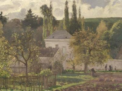 House in the Hermitage, Pontoise, 1873 by Camille Pissarro