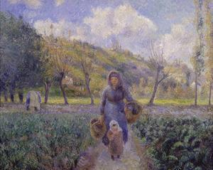 In the Vegetable Garden, 1881 by Camille Pissarro
