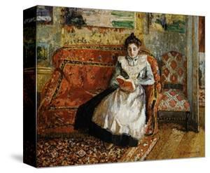 Jeanne Pissarro, Reading by Camille Pissarro