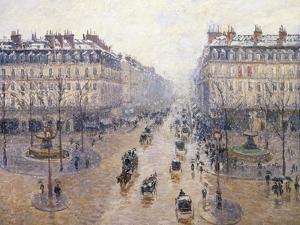 L'Avenue De L'Opéra, Snow, Morning, 1898 by Camille Pissarro