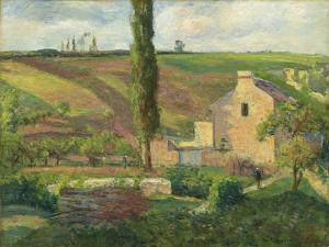 La Cote Des Mathurins a L'Hermitage, Pontoise, 1876 by Camille Pissarro