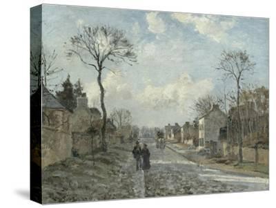 La route de Louveciennes by Camille Pissarro