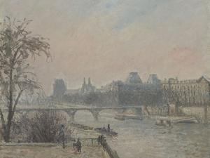 La Seine et le Louvre by Camille Pissarro