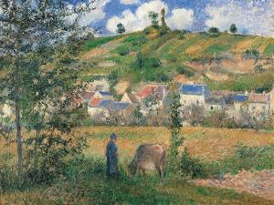 Landscape at Chaponval (Val d'Oise) by Camille Pissarro
