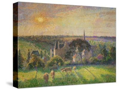 Landscape at Eragny: Church and Farm, 1895