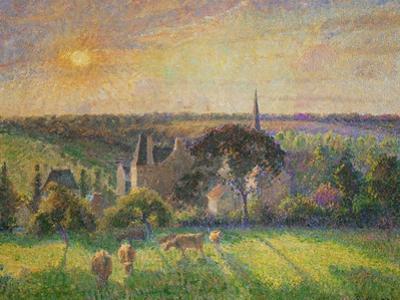 Landscape at Eragny: Church and Farm, 1895 by Camille Pissarro