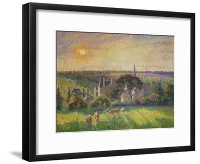 Landscape at Eragny: Church and Farm, 1895