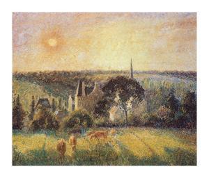 Landscape in Eragny by Camille Pissarro