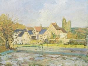 Landschaft bei Pontoise by Camille Pissarro