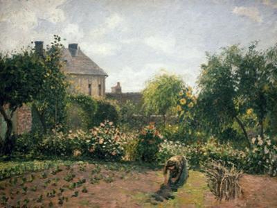 Le jardin de l'artiste à Eragny by Camille Pissarro