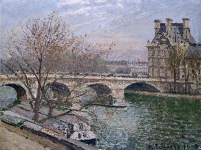 Le Pont Royal and Pavillon De Flore by Camille Pissarro