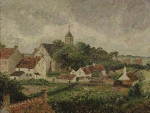 Le village de Knocke by Camille Pissarro