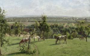 Les côteaux du Vésinet by Camille Pissarro