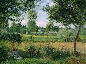 Morning Sunlight by Camille Pissarro