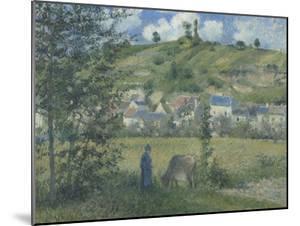 Paysage à Chaponval (Val d'Oise) by Camille Pissarro