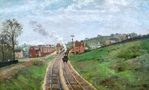 Pissarro: Station, 1871 by Camille Pissarro