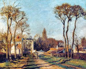Pissarro: Voisins, 1872 by Camille Pissarro