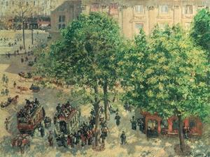 Place Du Theatre, Paris, 1898 by Camille Pissarro