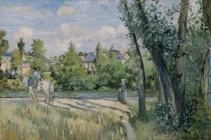 Pontoise, 1874 by Camille Pissarro