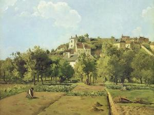 Pontoise, or the Gardens of the Hermitage, Pontoise, 1867 by Camille Pissarro