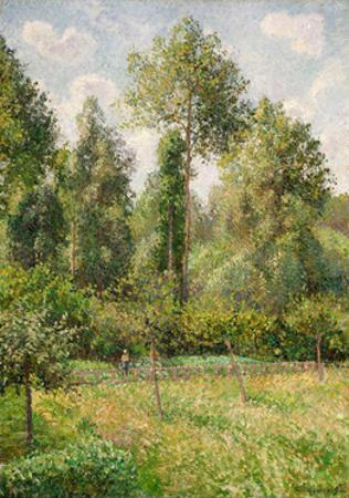 Poplars, Éragny, 1895 by Camille Pissarro
