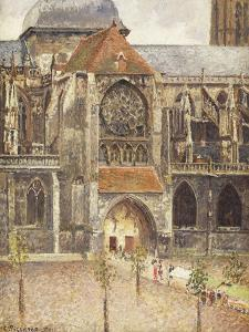 Portal of the Church of the Saint-Jaques in Dieppe; Portail de l'Eglise Saint-Jaques a Dieppe, 1901 by Camille Pissarro